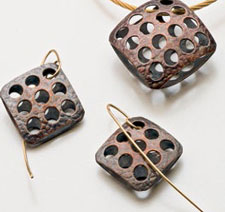 Project for etched copper earrings