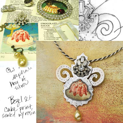 Learn how to make a pendant with found, recycled objects in this free guide from Jewelry Making Daily.