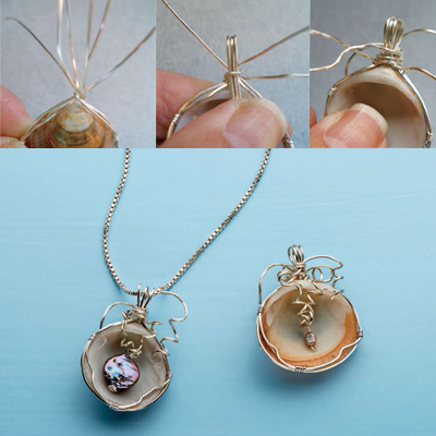 Learn how to make a seashell necklace in this free guide from Jewelry Making Daily.