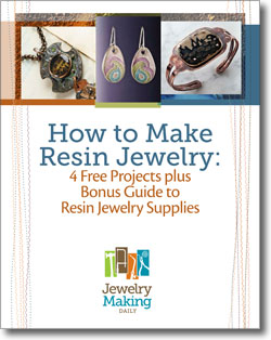 Get a free resin jewelry eBook to learn how to make jewelry today!