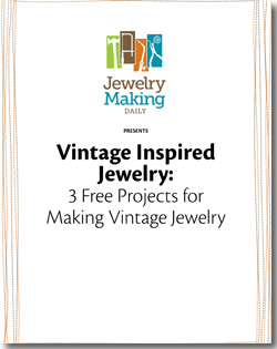 Instructions to make vintage inspired jewelry