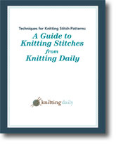 Techniques for Knitting Stitch Patterns