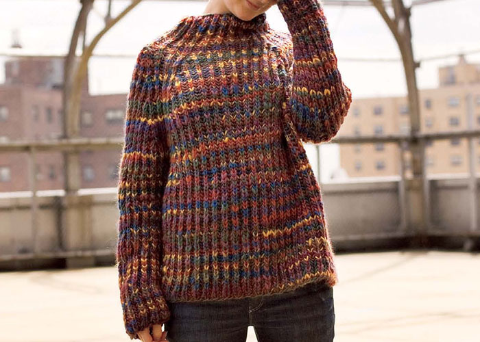 Knitting Brioche Sweaters: Bulky Brioche Raglan by Ann Budd