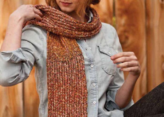 Brioche Knitting Pattern: Pizzicato Scarf by Star Athena