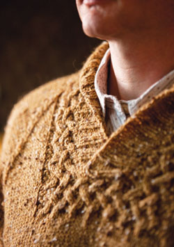 Find all sorts of stitches in this collection, including this cable knit sweater.