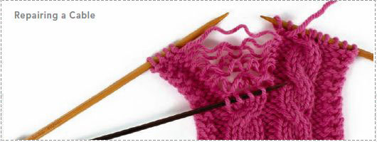 Cable Knitting Stitches: Repairing Knit Cables
