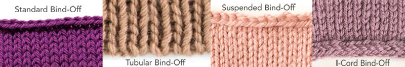 Casting off knitting techniques.