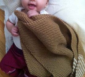 Knitting Blankets for Charity: Garter Stitch Baby Blanket by Kathleen Cubley
