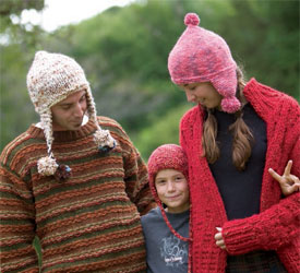 Knitting Hats for Charity: Earflap Hats by Knitscene Design Team