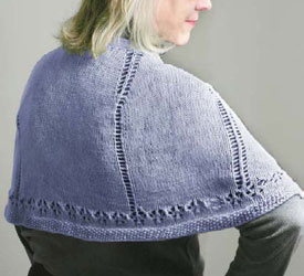 Shawl Knitting Patterns for Charity: Comfort Shawl by Sandi Wiseheart
