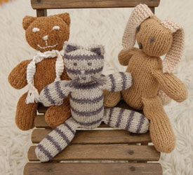 Toy Patterns for Charity Knitting: Knitted Cuddlies by Louisa Harding