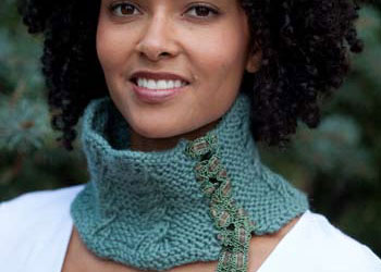 Cabled Cowl Pattern: Corseted Necklet by Sandi Wiseheart