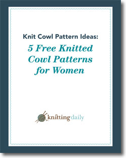 Grab this free eBook to get all five knitted cowl patterns.