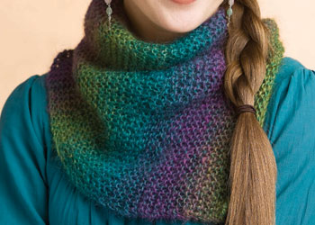 Easy Cowl Knitting Pattern: Rainbow Cowl