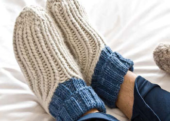 Slipper Socks Knitting Pattern Easy : Easy Knit Slipper Socks Pattern LONG HAIRSTYLES
