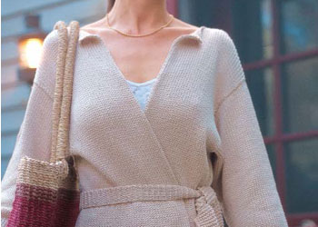 Easy Knit Sweater Pattern: Super-Simple Wrap Jacket