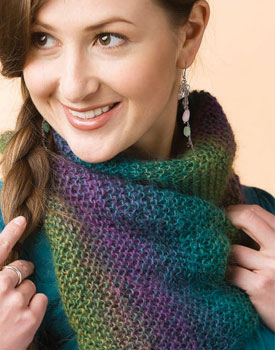 Discover your next favorite design with these easy knitting projects, including this colorful cowl.