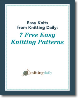 Download your 7 free easy knitting patterns!