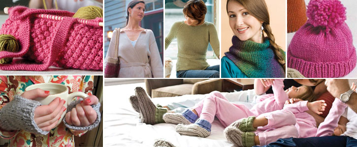 Get all 7 of these patterns, from mitts and slippers to sweaters and cowls, this eBook has it all.