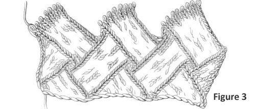 Entrelac Knitting Instructions: Figure 3