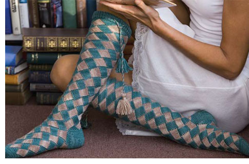 Entrelac Knitting Patterns: Socks