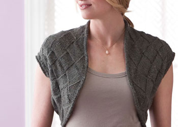 Entrelac Knitting Instructions: Cochin Shrug by Eunny Jang