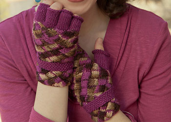 Entrelac Patterns: Reservoir Mitts by Allyson Dykhuizen