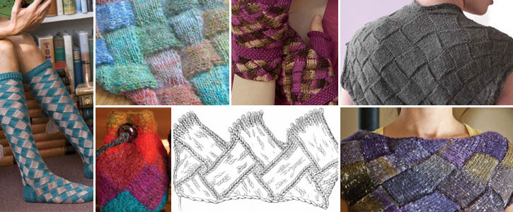 Download today to get the guide plus all six of these free entrelac knitting patterns.