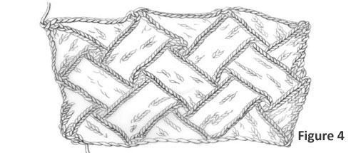 Entrelac Knitting Instructions: Figure 4
