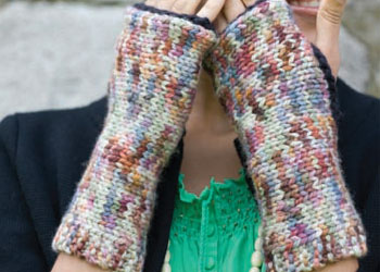 Fingerless Gloves Knitting Pattern: Motley Mitts