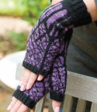 Learn how to knit gloves and fingerless gloves, including these, when you download this free eBook.