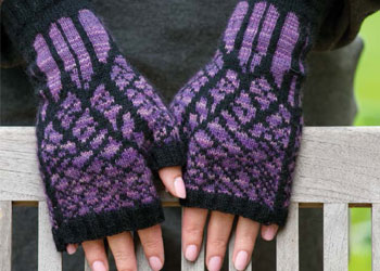 Knit Fingerless Gloves: Winter Twilight Mitts