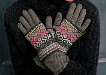Knit Gloves Pattern: Layered Turkish Gloves