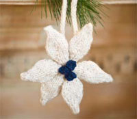 Poinsettia Ornament by Erin Hallstrom