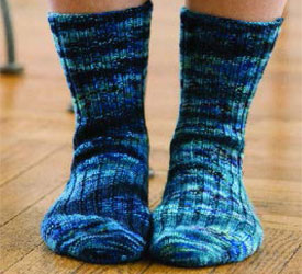 Toe-Up Sock Pattern: On-You-Toes Socks