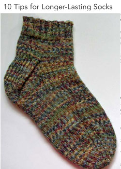 Find all sorts of helpful tips on how to knit a sock that will last.