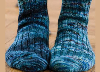 Short Row Patterns: On-Your-Toes Socks by Ann Budd