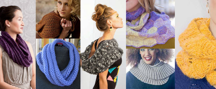 Learn how to knit an infinity scarf, from chunky to lacy, with this collection.