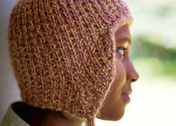 Easy Knit Hat Pattern: Army Girl Earflap by Lisa Shroyer