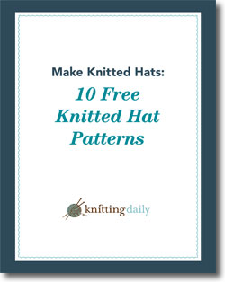 Download your 10 free knitted hat patterns.
