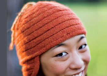 Ribbed Hat Knitting Pattern: Ridged Helmet Hat by Ann Budd