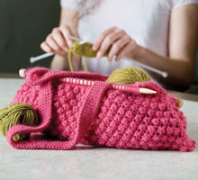 Free Knitting Patterns Bag: Knitting Needle Knitting Bag