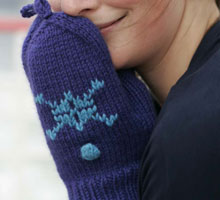 Free Knitting Patterns Mittens: Flip-Top Mittens