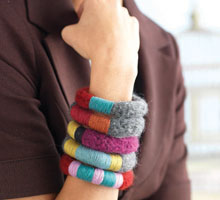 Free Knitting Patterns Yarn Jewelry: Bevy of Bangles