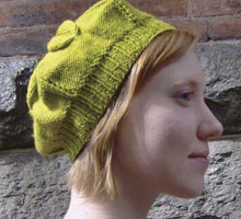 Free Knitting Patterns Beret: Crumpet Beret