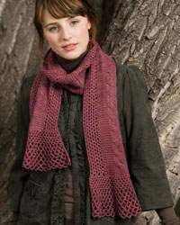 Knitting and Crochet Patterns: Lacy Cables Scarf