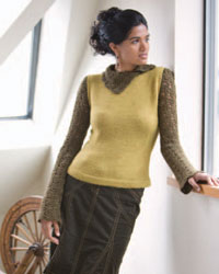 Knitting and Crochet Patterns: Melange Turtleneck