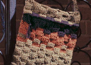 Shoulder Knitting Bag Pattern: Basketweave Shoulder Bag
