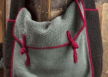 Knitting Pattern For Book Bag : 9 Free Knitted Bag Patterns - Knitting Daily