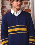 Knit sweaters for men: Thoroughbred Stripe Pullover